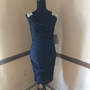NWT JS Boutique Ruched Cocktail Dress